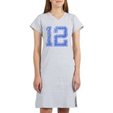12, Blue, Vintage Women's Nightshirt