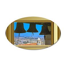 Bells of Bethlehem 35x21 Oval Wall Decal