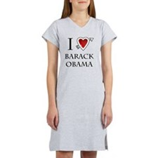 i love Barack Obama heart Women's Nightshirt