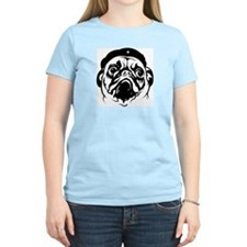 Pug Revolution! Women's Pink T-Shirt