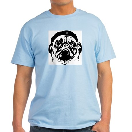 Pug Revolutionary Icon- Ash Grey T-Shirt