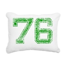 76, Green, Vintage Rectangular Canvas Pillow