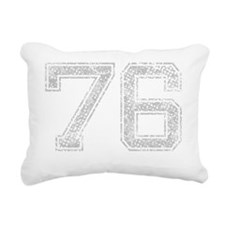 76, Grey, Vintage Rectangular Canvas Pillow