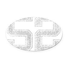 52, Grey, Vintage Oval Car Magnet