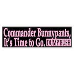 Commander Bunnypants (bumper sticker)