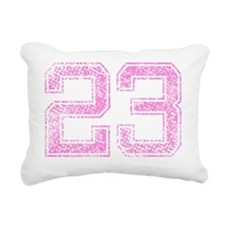 23, Pink Rectangular Canvas Pillow