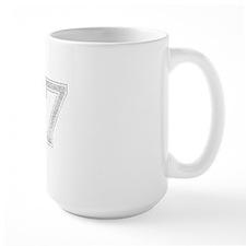 87, Grey, Vintage Mug
