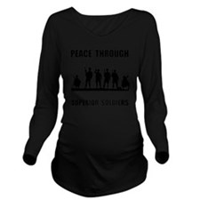 Superior Soldiers Long Sleeve Maternity T-Shirt