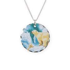 Mama and Cub Polar Bear Necklace
