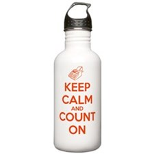 Keep Calm and Count On Sports Water Bottle