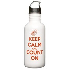 Keep Calm and Count On Water Bottle