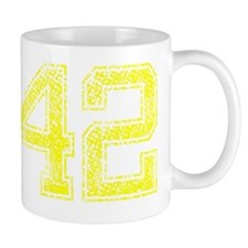 42, Yellow, Vintage Mug
