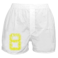 8, Yellow, Vintage Boxer Shorts