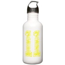 11, Yellow, Vintage Water Bottle