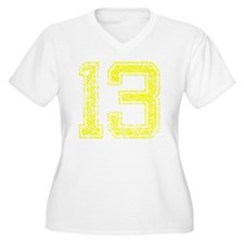 13, Yellow, Vinta T-Shirt