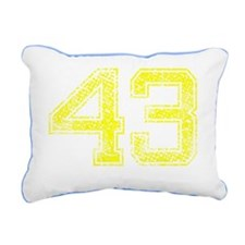 43, Yellow, Vintage Rectangular Canvas Pillow