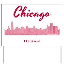 Chicago_12x12_Skyline_Red Yard Sign