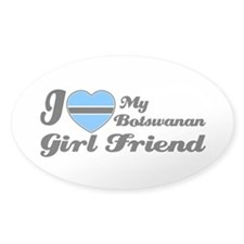 Botswanan girl friend Oval Decal