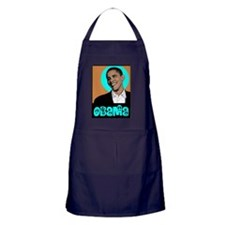 Obama and Peace Apron (dark)