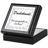 Dachshund Pawprints Keepsake Box