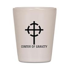 center of gravity cross Shot Glass