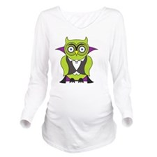 Halloween Vampire Ow Long Sleeve Maternity T-Shirt