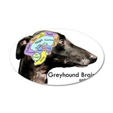 The Greyhound Brain Wall Decal