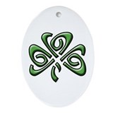 Irish: Shamrock Oval Ornament
