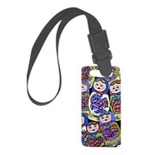 russian dolls Small Luggage Tag