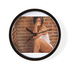 Female bodybuilder Wall Clock