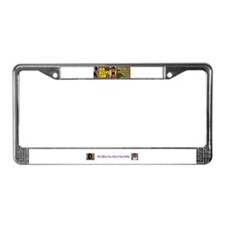 Female bodybuilder License Plate Frame