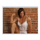 Unique Female bodybuilder Wall Calendar