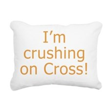 Crushing on Cross Rectangular Canvas Pillow