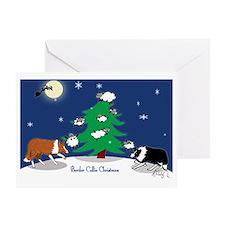 border collie christmas post card Greeting Card