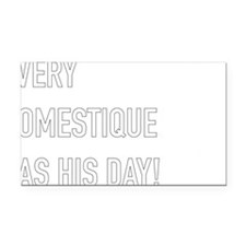 Domestique Rectangle Car Magnet