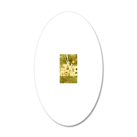 Christmas F4 20x12 Oval Wall Decal