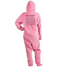 Ineptocracy Footed Pajamas