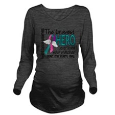 D Thyroid Cancer Bra Long Sleeve Maternity T-Shirt