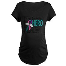 D Thyroid Cancer Bravest He T-Shirt