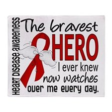 D Heart Disease Bravest Hero I Ever  Throw Blanket