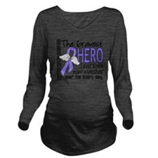 D Stomach Cancer Bra Long Sleeve Maternity T-Shirt