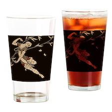 Art Deco Dancer Drinking Glass