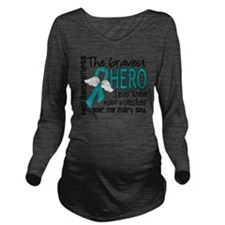 D PKD Bravest Hero I Long Sleeve Maternity T-Shirt