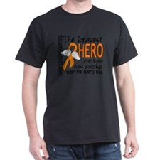 D Kidney Cancer Bravest Hero I Ever K T-Shirt