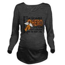 D Kidney Cancer Brav Long Sleeve Maternity T-Shirt