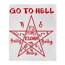 Go to Hell Throw Blanket