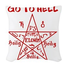 Go to Hell Woven Throw Pillow