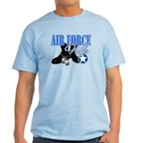 Air Force Wife with Boots and T-Shirt