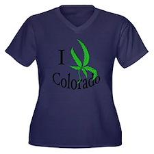 I pot Colora Women's Plus Size Dark V-Neck T-Shirt