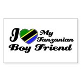 Tanzanian Boy friend Rectangle Decal